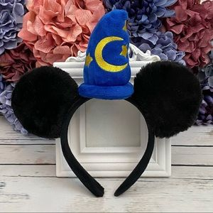 Mickey Mouse Black Plush Headband with Party Hat